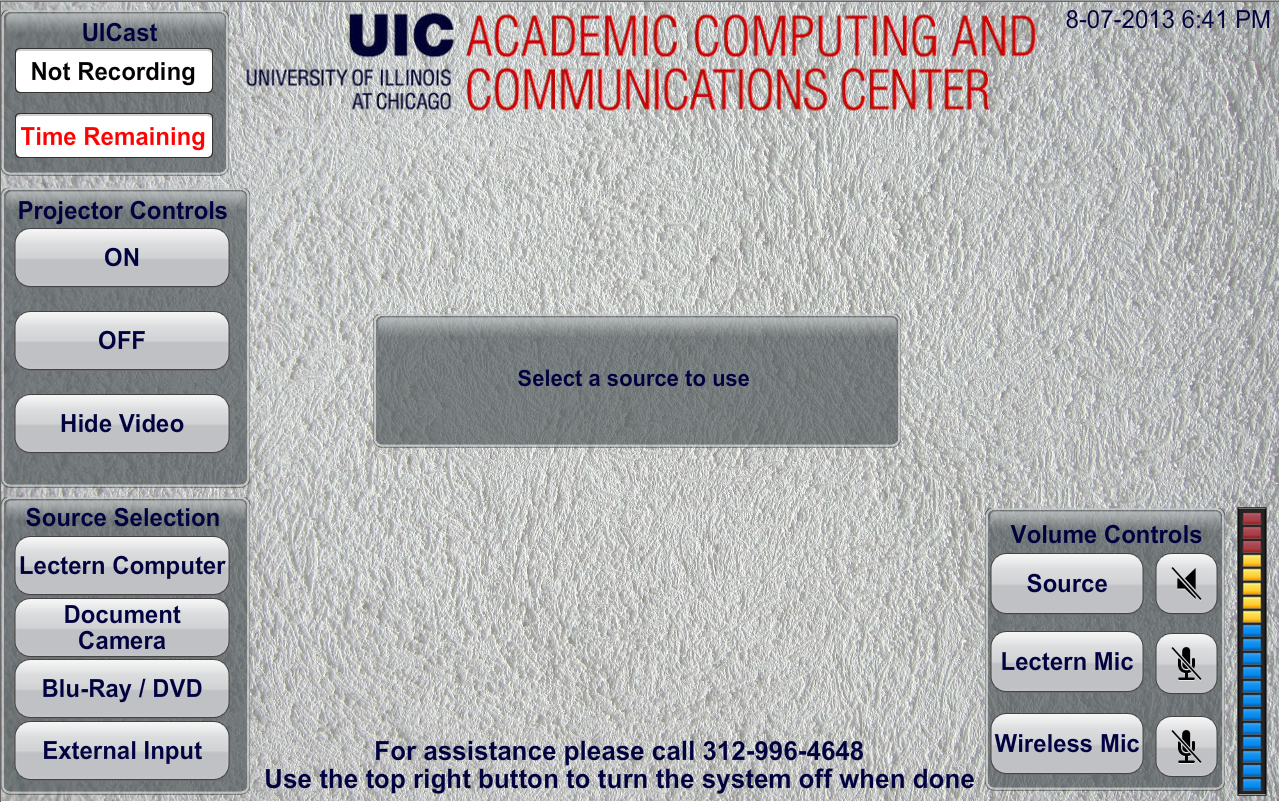 Main Interface Page